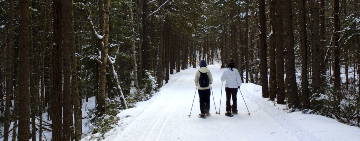 Skiiing and hiking